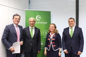 Pedro Muñoz, Sergio Pomar, Isabel Reija y Jaume Fornés
